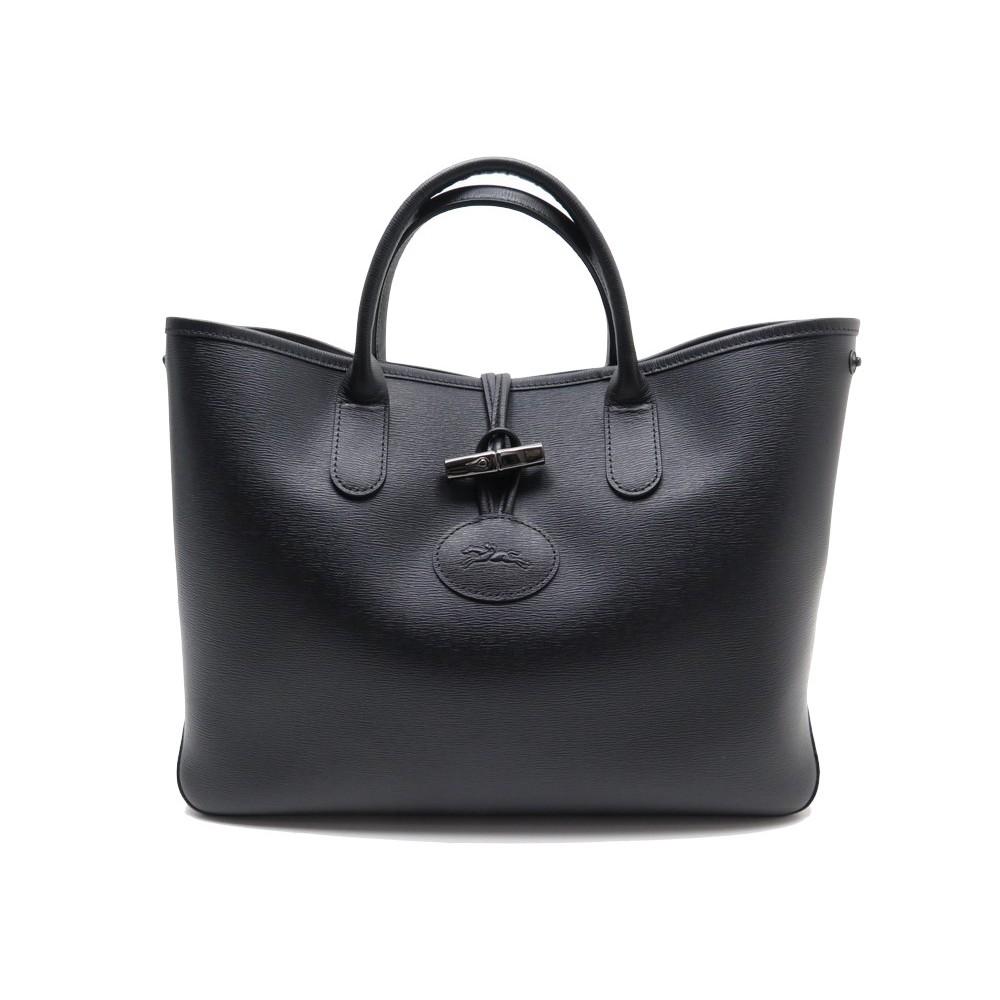 sac a main longchamp roseau heritage cuir noir
