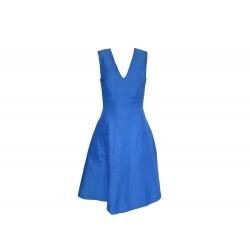 ROBE PAUL SMITH SANS MANCHES T 40 M EN LIN BLEU BLUE LINEN SLEEVELESS DRESS 790€