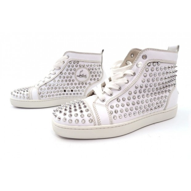 NEUF CHAUSSURES CHRISTIAN LOUBOUTIN SNEAKERS LOUIS SPIKE 40.5 41.5 BASKETS 1200€