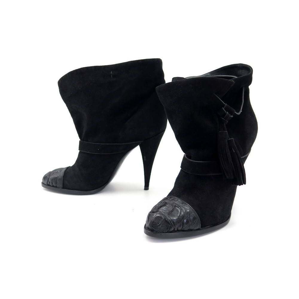 chaussures givenchy bottines a talons 40 daim noir