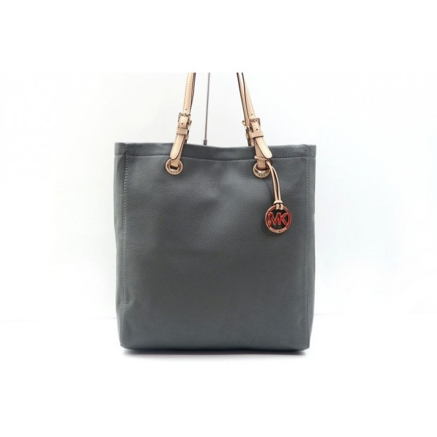 NEUF SAC A MAIN MICHAEL KORS CABAS JET SET CUIR GRAINE TOTE HAND BAG PURSE 295€