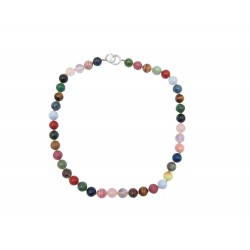 NEUF COLLIER TIFFANY & CO BEAD PALOMA PICASSO PIERRES MULTICOLORES NECKLACE