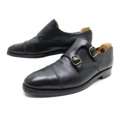 CHAUSSURES JOHN LOBB WILLIAM 9.5E 43.5 MOCASSINS A BOUCLE CUIR NOIR SHOES 1285€