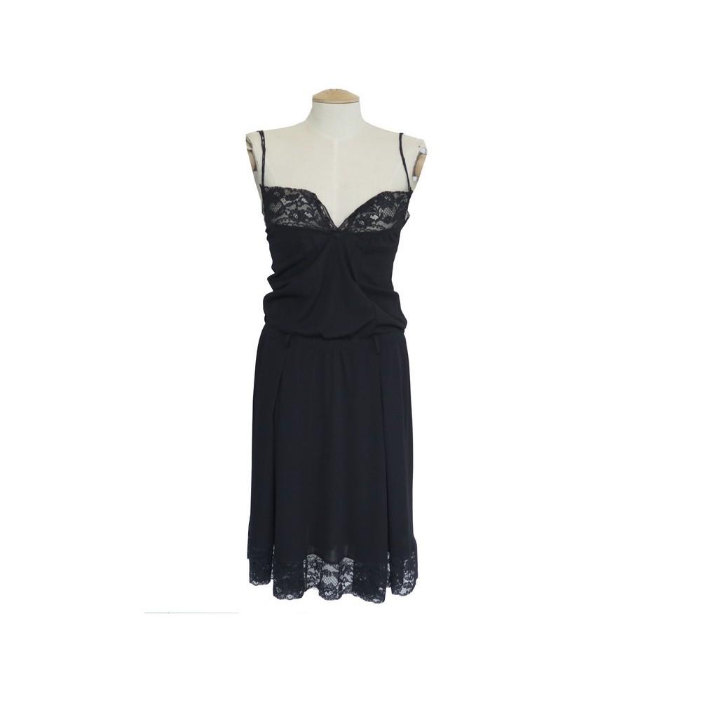 Robe Dolce Gabbana T 40 It 36 Fr S Polyester Noir
