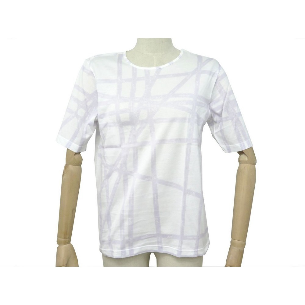 4072e542 t shirt manches courtes hermes bolduc 42 l coton blanc