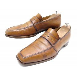 CHAUSSURES BERLUTI DANDY SAUVAGE 9.5 43.5 EN CUIR PATINE MARRON SHOES 1670€