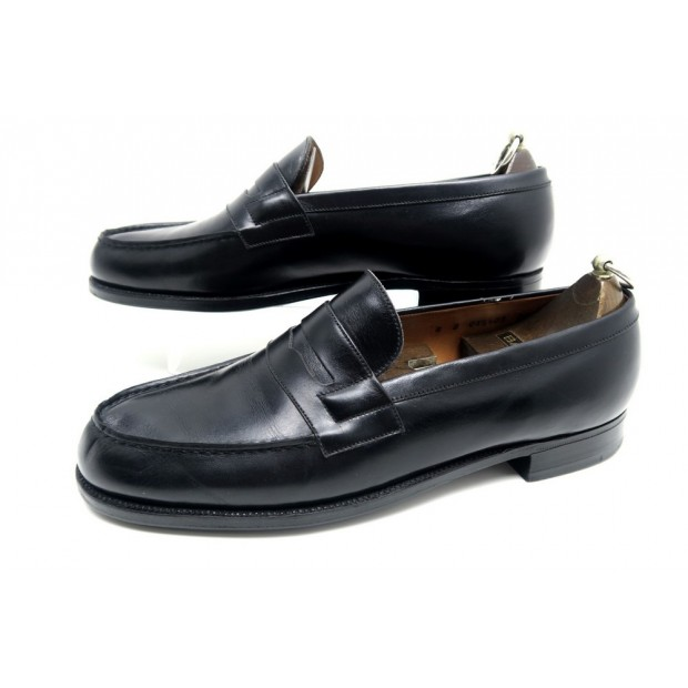 CHAUSSURES JM WESTON MOCASSINS 180 EN CUIR NOIR 8B 42 + EMBAUCHOIRS SHOES 575€