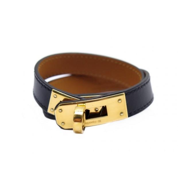 9dd256e9da5 bracelet hermes kelly double tour xs en cuir noir