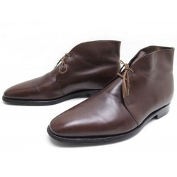 CHAUSSURES JOHN LOBB ROMSEY 7.5E 41.5 BOTTINES CUIR MARRON LEATHER SHOES 1095€