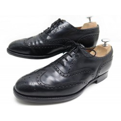 CHAUSSURES CHURCH'S HICKSTEAD 8F 42 RICHELIEU BOUT FLEURI CUIR NOIR SHOES 620€