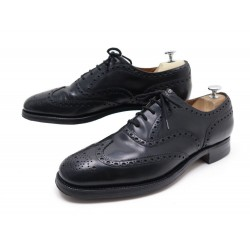 CHAUSSURES CHURCH'S BURWOOD 10F 44 RICHELIEUS CUIR NOIR BLACK LEATHER SHOES 620€