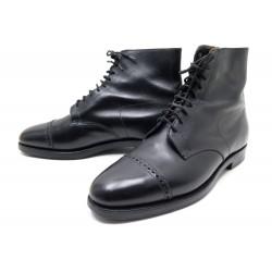 CHAUSSURES JOHN LOBB MORTON BOTTINES 9E 43 EN CUIR NOIR BLACK LOW BOOTS 1725€