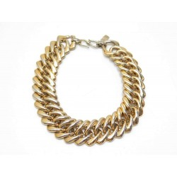 VINTAGE COLLIER RAS DE COU YVES SAINT LAURENT EN MAILLE AMERICAINE DORE NECKLACE