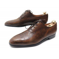 CHAUSSURES BERLUTI RICHELIEUS ONE CUT 12 46 CUIR PATINE MARRON BROWN SHOES 1610€