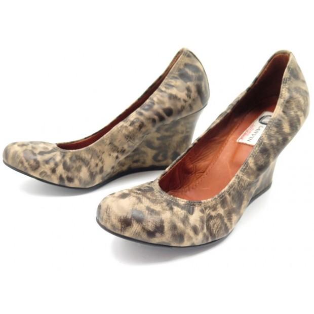 code promo f4bcc 11856 chaussures lanvin ballerines compensees 38.5 en cuir