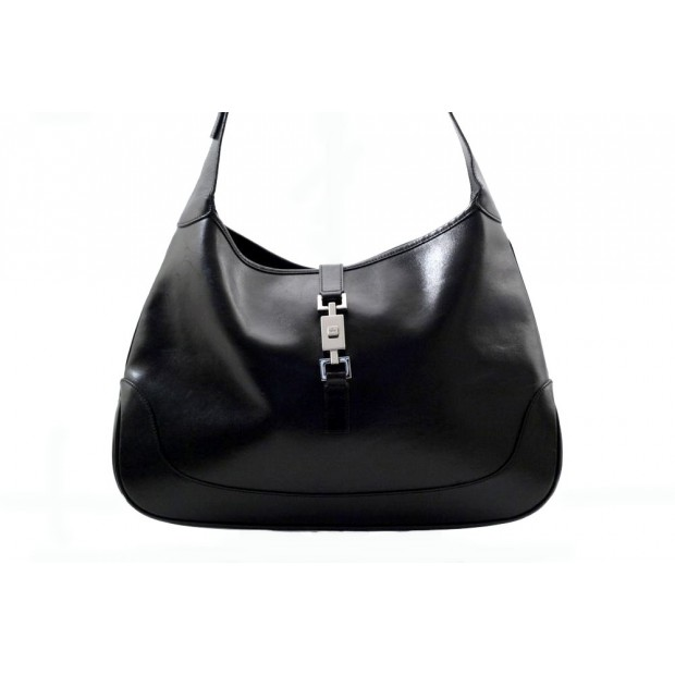 SAC A MAIN GUCCI JACKIE-O 001-3346 PORTE EPAULE CUIR NOIR LEATHER HANDBAG 1650€