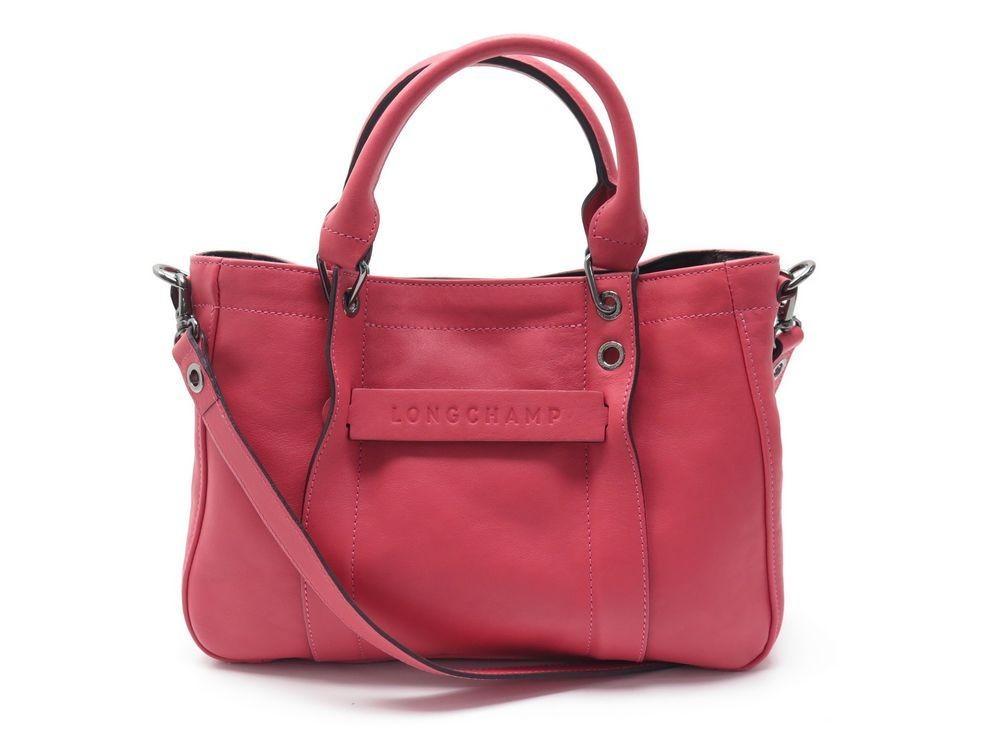 sac a main longchamp 3d s l1115770a27 cuir rose