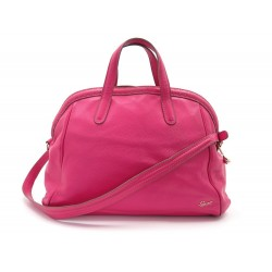 SAC A MAIN LANCEL 42 CM EN CUIR GRAINE ROSE GRAINED LEATHER HANDBAG PURSE 1190€