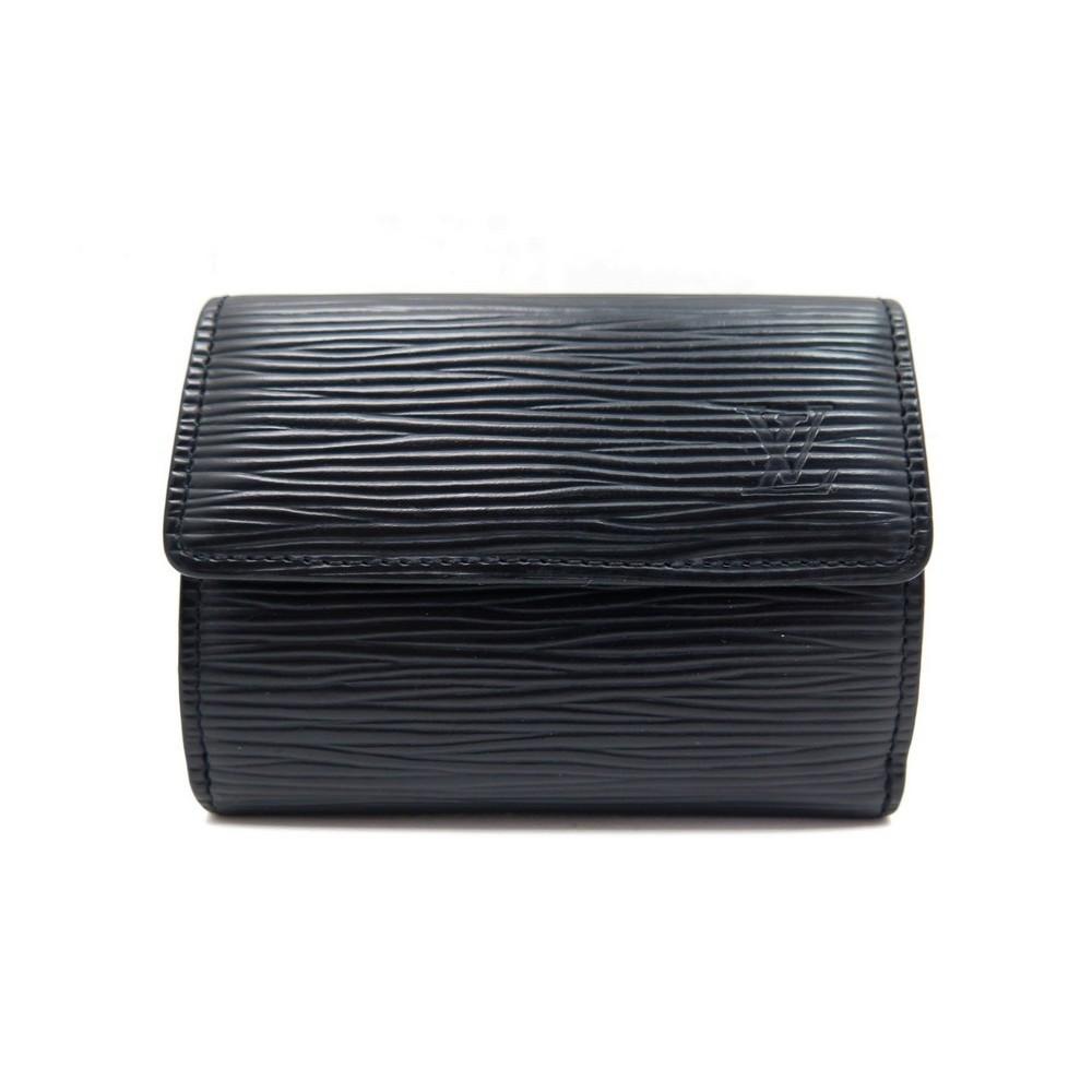 porte monnaie louis vuitton porte carte cuir epi noir. Black Bedroom Furniture Sets. Home Design Ideas