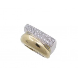 BAGUE FRED SUCCESS EN OR BLANC & JAUNE PAVAGE DIAMANTS TAILLE 54 GOLD RING 5220€