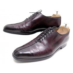 CHAUSSURES BERLUTI RICHELIEU 42 SUR MESURE EN CUIR BORDEAUX LEATHER SHOES 6000€