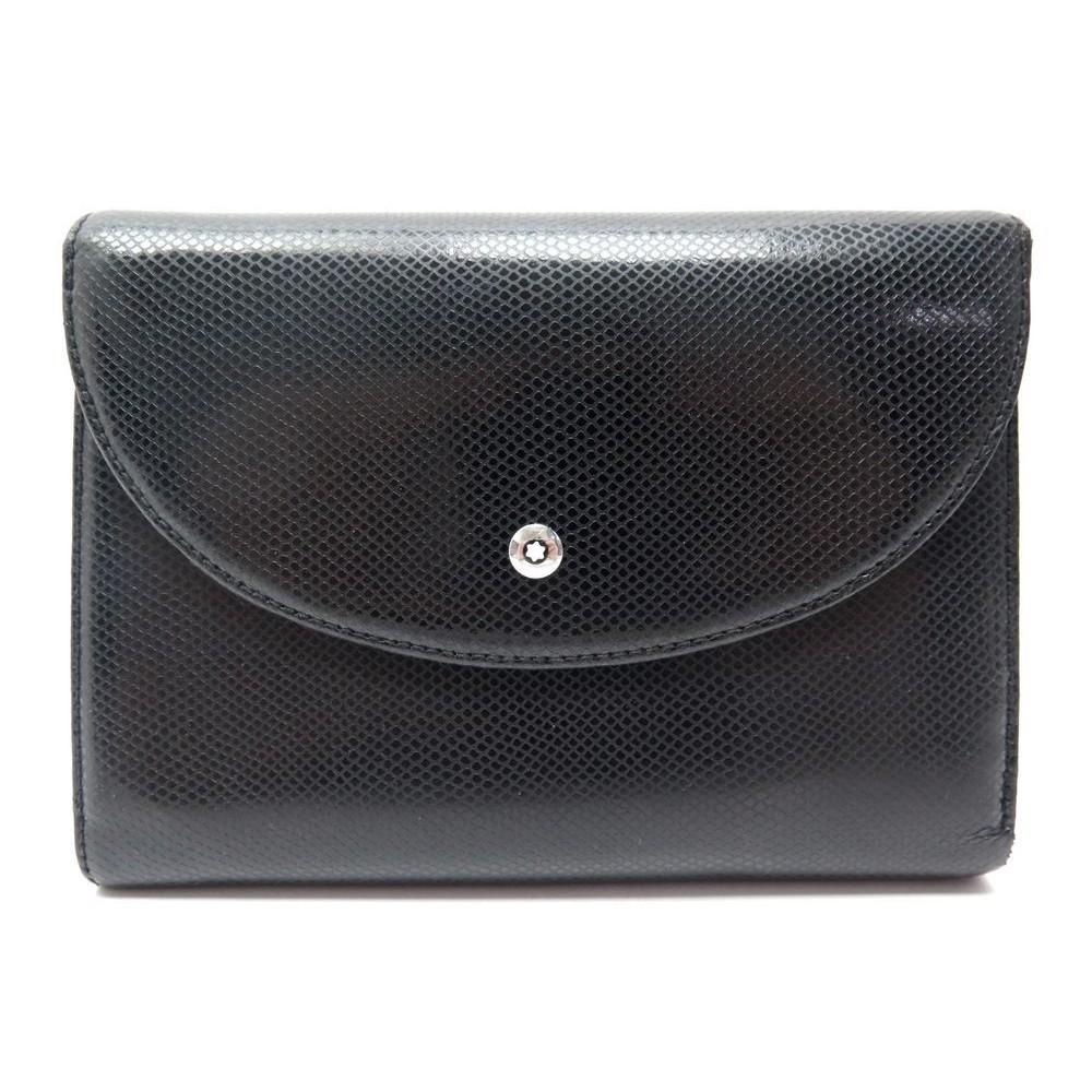 acheter populaire 6c914 d1d0e portefeuille montblanc meisterstuck cuir graine noir
