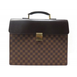 SACOCHE LOUIS VUITTON ALTONA DAMIER EBENE TOILE CARTABLE A MAIN SERVIETTE 1950€
