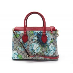 SAC A MAIN GUCCI GG SUPREME BLOOMS 409534 TOILE MONOGRAMME CUIR ROUGE BAG 1490€