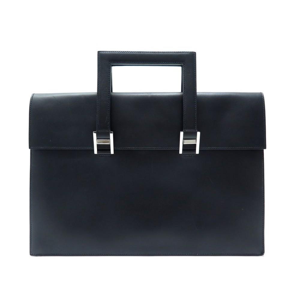 f0345a7e81 sac a main hermes sacoche cartable mallette cuir noir