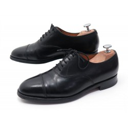 CHAUSSURES JOHN LOBB CITY RICHELIEU 6.5E 40.5 CUIR NOIR BLACK OXFORD SHOES 1095€