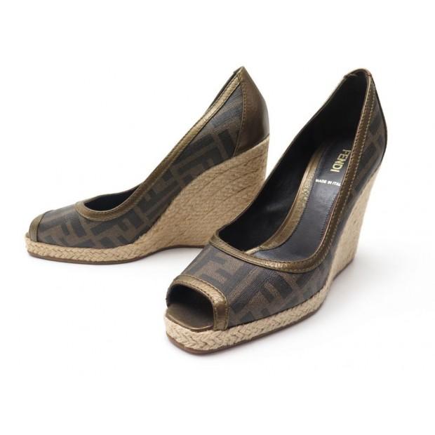 new york 100% genuine best cheap chaussures fendi sandales talons compenses 38