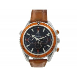 MONTRE OMEGA SEAMASTER PLANET OCEAN 45 MM CHRONOGRAPH ACIER ORANGE WATCH 7350€