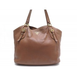 SAC PRADA CUIR MARRON