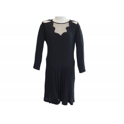 ROBE MANCHES LONGUES SONIA RYKIEL SYNTHETIQUE NOIR TAILLE 40 M BLACK DRESS 690€