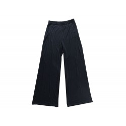 PANTALON YVES SAINT LAURENT TAILLE 40 S EN SOIE NOIR BLACK SILK TROUSERS 990€