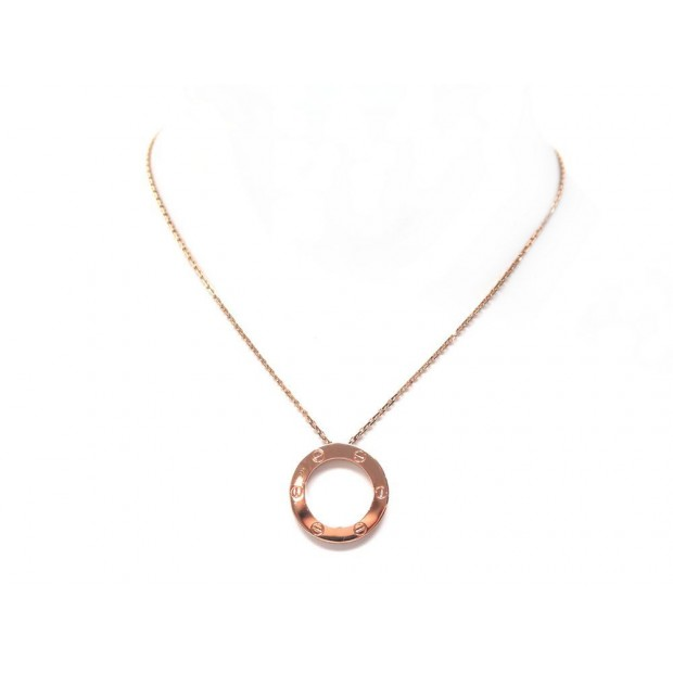 NEUF COLLIER CARTIER LOVE OR ROSE