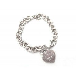 BRACELET TIFFANY & CO COEUR PLEASE RETURN TO T17 ARGENT 35G SILVER STERLING 380€