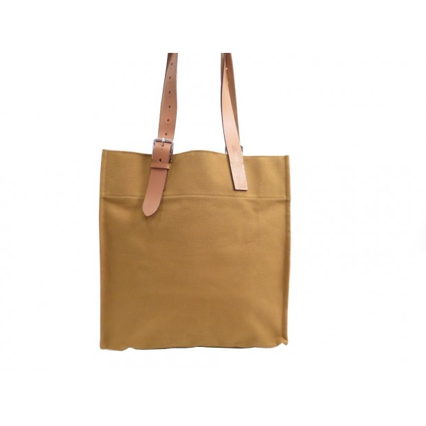NEUF SAC MAIN HERMES ETRIVIERE CABAS EN TOILE JAUNE HAND BAG PURSE CANVAS 1518€