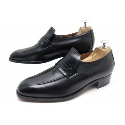 NEUF CHAUSSURES CHURCH'S SIRIUS MOCASSINS 7F 41 EN CUIR NOIR LEATHER SHOES 590€