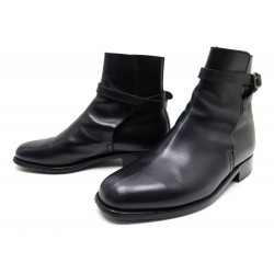 CHAUSSURES JM WESTON BOTTINES EN CUIR NOIR 7F 40.5 BLACK LEATHER LOW BOOTS 910€