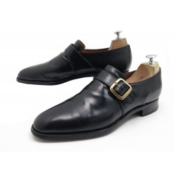CHAUSSURES CHURCH'S WESTBURY 9.5F 43.5 MOCASSINS A BOUCLE CUIR NOIR LOAFERS 620€
