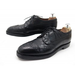 CHAUSSURES CHURCH'S GRAFTON DERBY 9F 43 CUIR NOIR BOUT FLEURI BLACK SHOES 690€