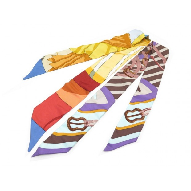 super populaire Super remise remise chaude foulard twilly hermes en soie multicolore boite silk