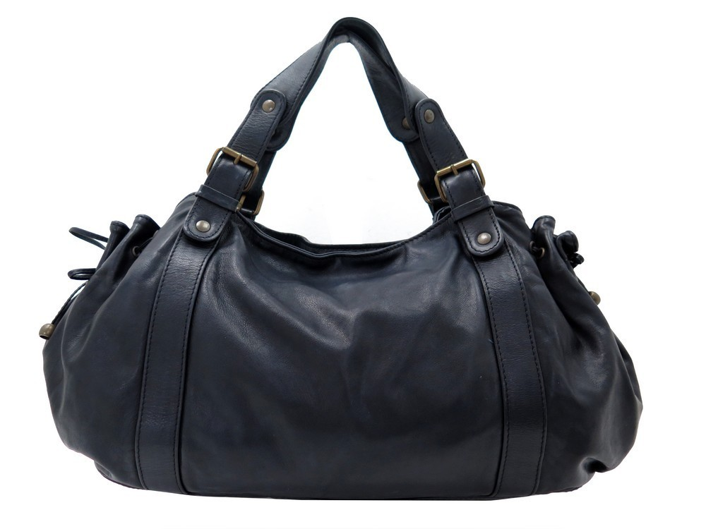 sac a main gerard darel 24h en cuir noir black leather