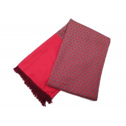 ECHARPE HERMES 150 CM EN LAINE ANGORA ET SOIE ROUGE RED WOOL AND SILK SCARF 470€