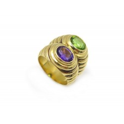 BAGUE BULGARI SERPENTI GODRON T 52 OR JAUNE