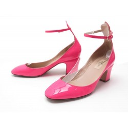 NEUF CHAUSSURES VALENTINO TANGO 38 IT 39 FR ESCARPINS CUIR VERNI ROSE FLUO 780€