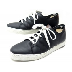 NEUF CHAUSSURES BERLUTI SNEAKERS PLAYFIELD 11 45 EN CUIR NOIR BLACK SHOES 1240€