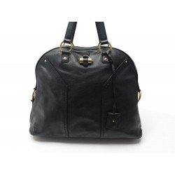 SAC A MAIN YVES SAINT LAURENT MUSE GM 153959 EN CUIR GRAINE NOIR HAND BAG 1790€