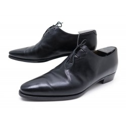 CHAUSSURES BERLUTI RICHELIEU PIERCING GALET 8 42 EN CUIR NOIR OXFORD SHOES 1580€